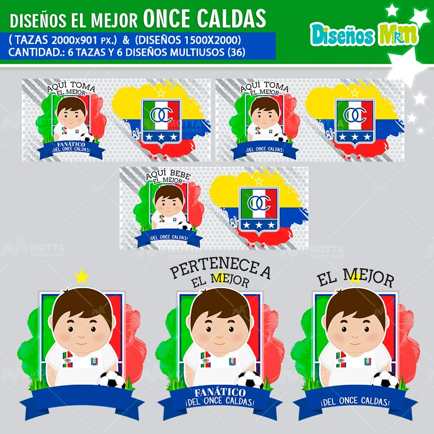 DISEÑOS AQUÍ TOMA FANÁTICO DE ONCE CALDAS