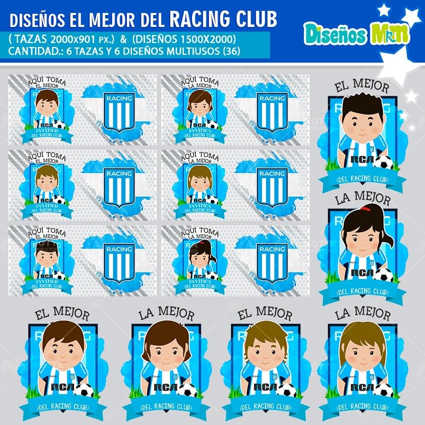 DISEÑOS AQUÍ TOMA MEJOR FANÁTICO DEL RACING CLUB