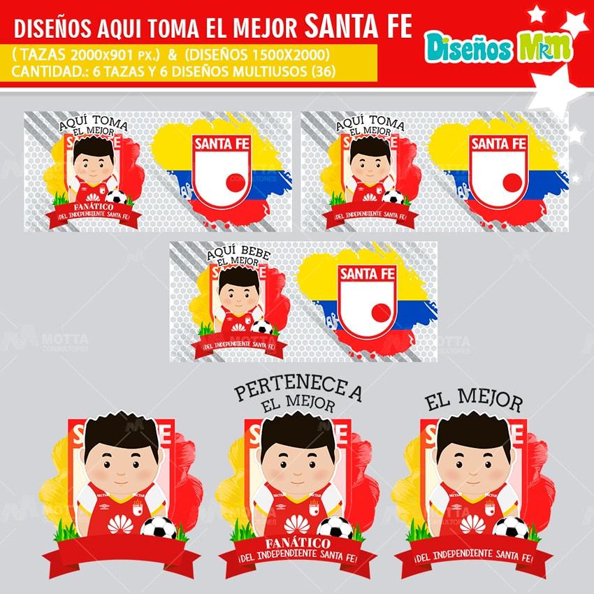 DISEÑOS AQUÍ TOMA FANÁTICO DEL INDEPENDIENTE SANTA FE
