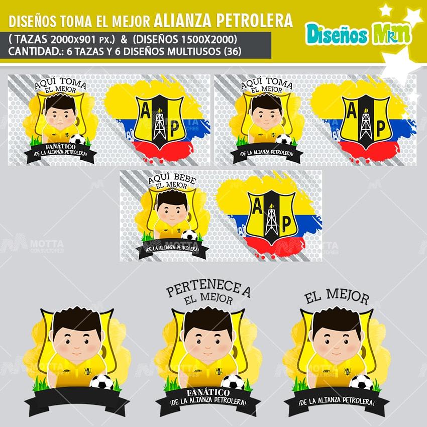 DISEÑOS AQUÍ TOMA MEJOR FANÁTICO DE LA ALIANZA PETROLERA
