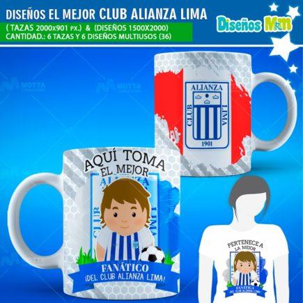 DISEÑOS AQUÍ TOMA FANÁTICO DEL CLUB ALIANZA LIMA
