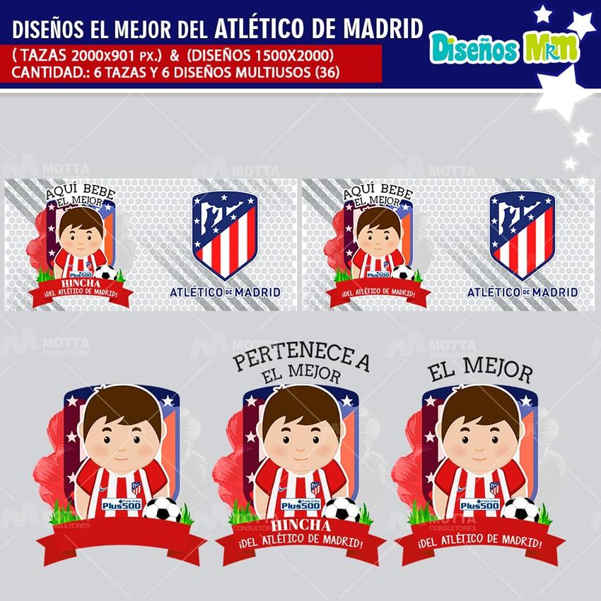 DISEÑOS AQUÍ BEBE HINCHA DEL ATLÉTICO DE MADRID