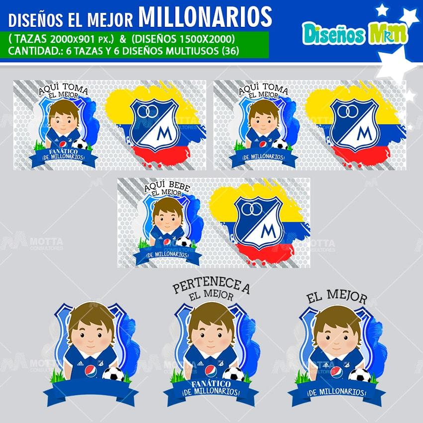 DISEÑOS AQUÍ TOMA EL MEJOR FANÁTICO DE MILLONARIOS