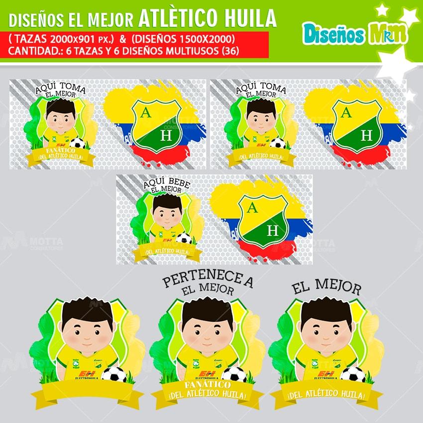 DISEÑOS AQUÍ TOMA MEJOR FANÁTICO ATLÉTICO HUILA