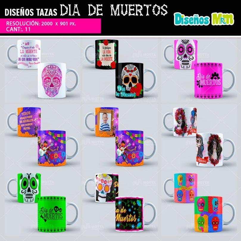 Diseños-plantillas-dibujo-mug-taza-tazones-vaso-dia-de-muertos-noviembre-2-mexico-celebracion-catrina-calavera-min