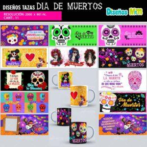 Diseños-plantillas-dibujo-mug-taza-tazones-vaso-dia-de-muertos-noviembre-2-mexico-halloween-catrina-coco-min