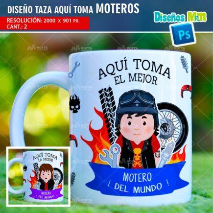 DISEÑOS TAZAS AQUÍ TOMA EL MEJOR MOTERO