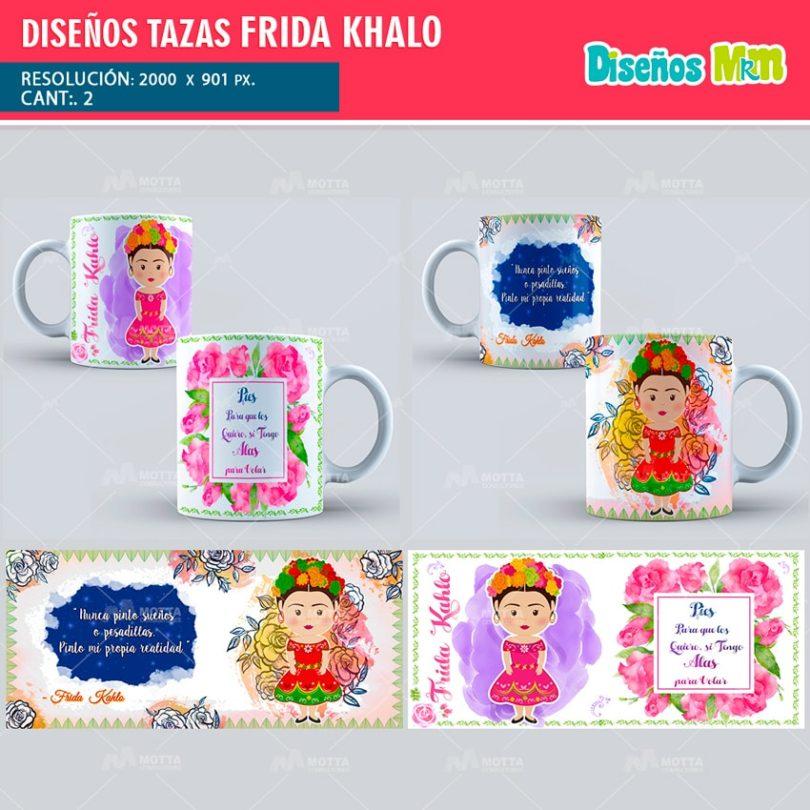 plantilla-diseño-marco-tazas-mug-design-tazas-frida-khalo-méxico-min