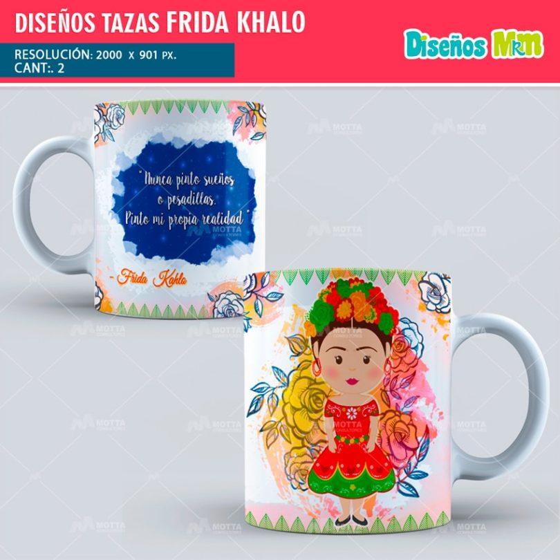 plantilla-diseño-marco-tazas-mug-design-tazas-frida-khalo-min