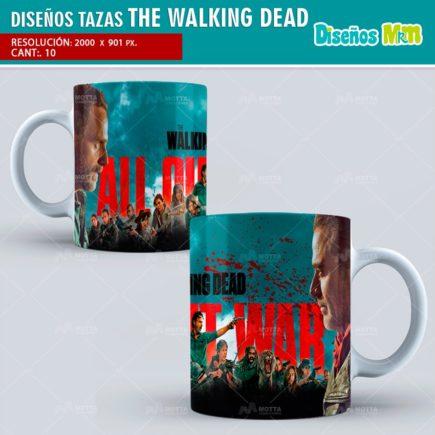 DISEÑOS PARA MUG TAZAS SERIE THE WALKING DEAD