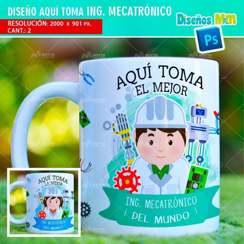 plantilla-diseño-tazas-mug-aqui-toma-bebe-ingeniero-mecatrónico