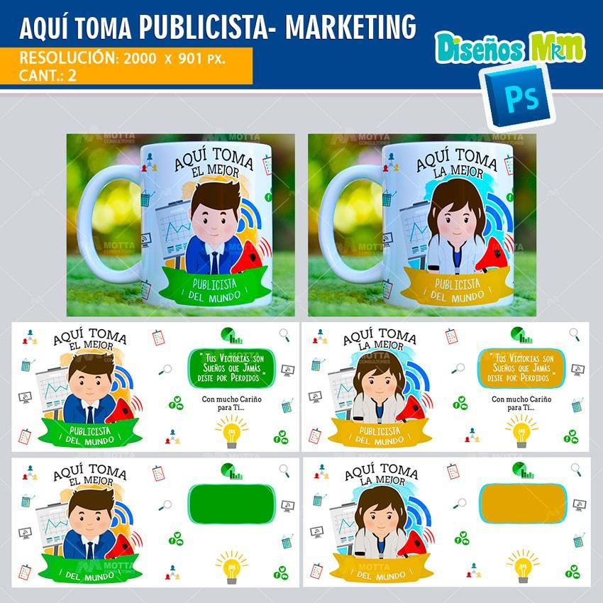 AQUÍ TOMA MEJOR PUBLICISTA-MARKETING: DISEÑOS PARA TAZAS