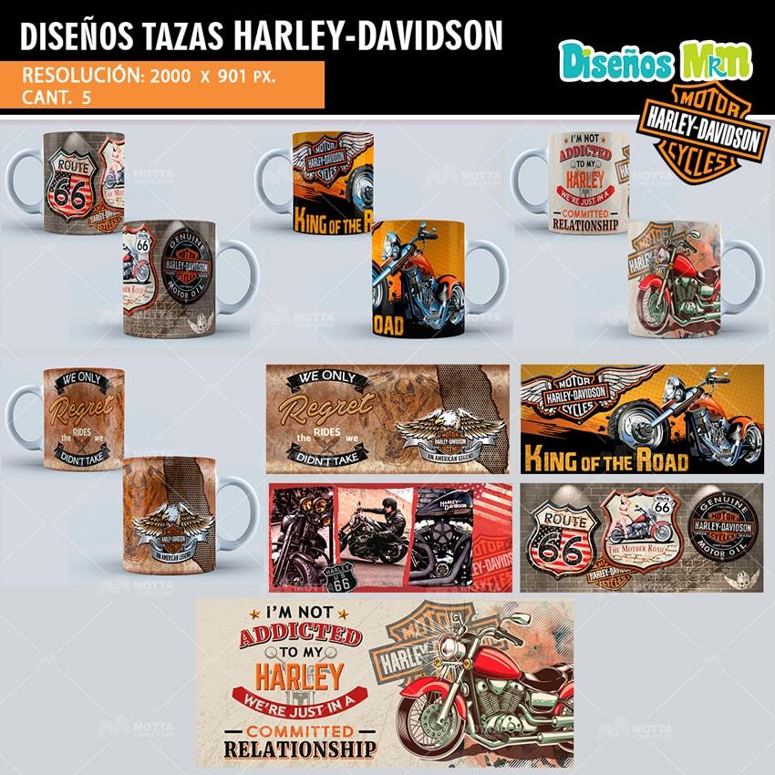 DISEÑOS PARA SUBLIMAR TAZAS DE HARLEY DAVIDSON