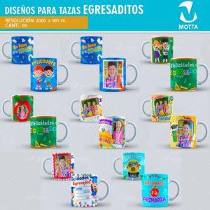 plantilla-diseño-marco-tazas-mug-egresaditos-egresados-colegio-primaria-estudiantes-alumnos-finaño
