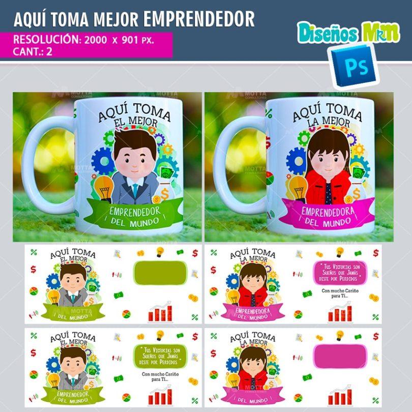 plantilla-diseño-tazas-mug-aqui-toma-bebe-emprendedora-coach