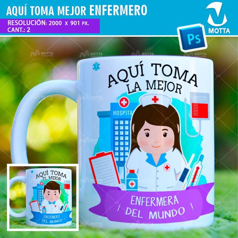 plantilla-diseño-tazas-mug-aqui-toma-bebe-enfermero-enfermera