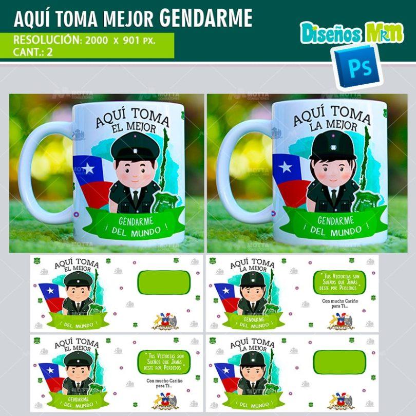 plantilla-diseño-tazas-mug-aqui-toma-bebe-gendarme-policia-seguridad