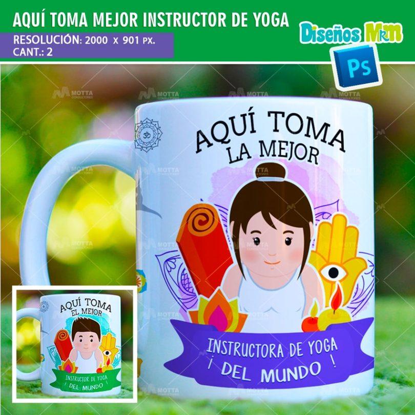 plantilla-diseño-tazas-mug-aqui-toma-bebe-instructor-yoga-namaste