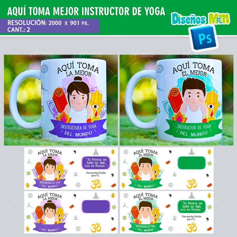 plantilla-diseño-tazas-mug-aqui-toma-bebe-instructora-yoga-yin-yang