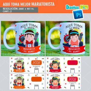 plantilla-diseño-tazas-mug-aqui-toma-bebe-maratonista-atleta