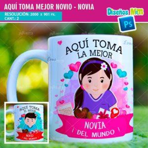 plantilla-diseño-tazas-mug-aqui-toma-bebe-novios-pololos-enamorados