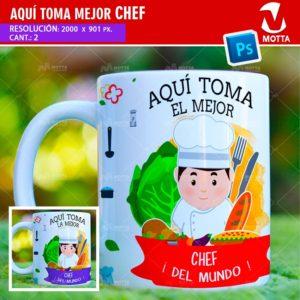 plantilla-diseño-tazas-mug-aqui-toma-chef-cocinero