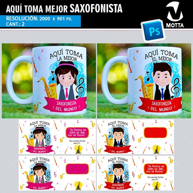 plantilla-diseño-tazas-mug-aqui-toma-saxofonista-saxofon-musica-saxo