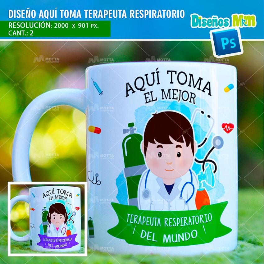 DISEÑOS PARA TAZAS TERAPEUTA RESPIRATORIO