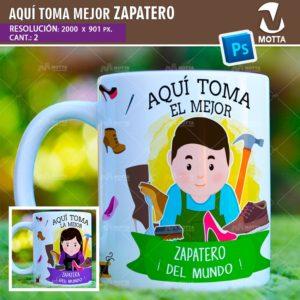 plantilla-diseño-tazas-mug-aqui-toma-zapatero-zapatera-calzado