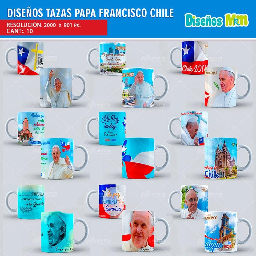 PAPA FRANCISCO EN CHILE: DISEÑOS PARA TAZAS