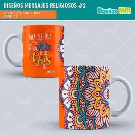 MENSAJES RELIGIOSOS PARA SUBLIMAR MUGS | PACK # 2