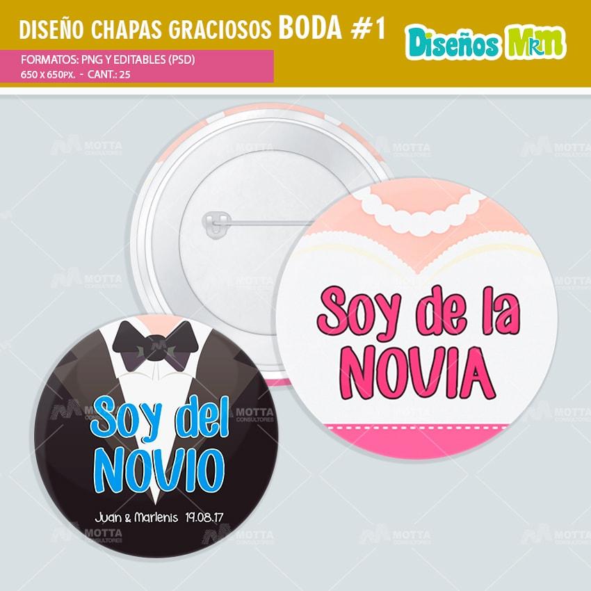 Diseños Chapas Con Frases Para Boda Pack 1