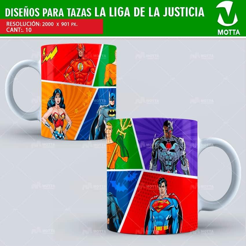 LA LIGA DE LA JUSTICIA DISEÑOS PARA SUBLIMAR TAZAS