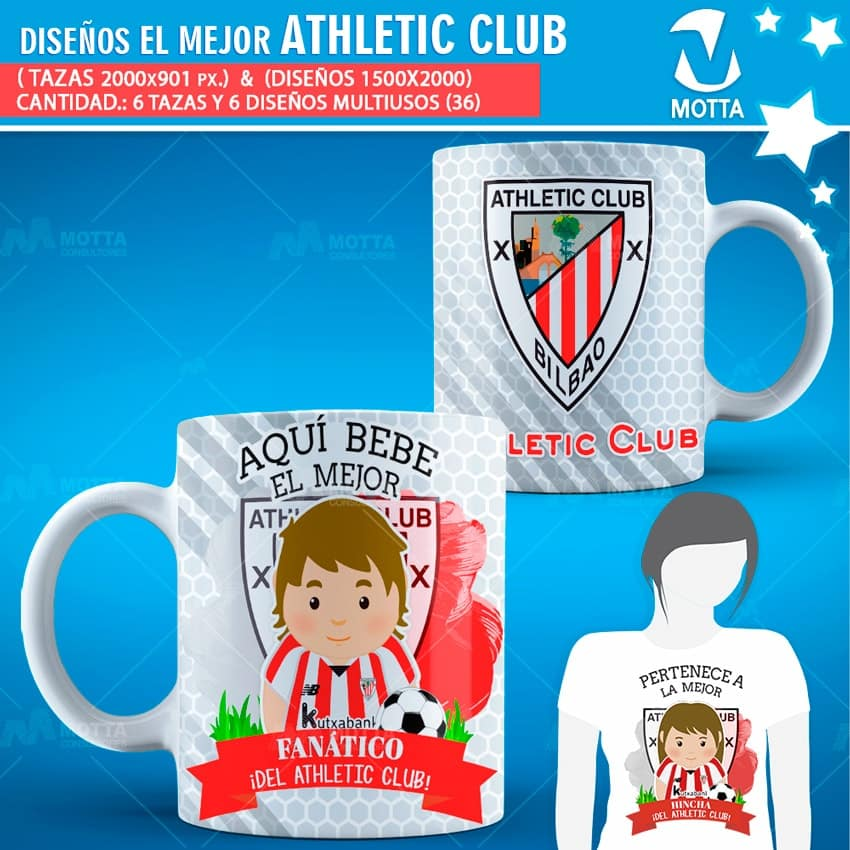 HINCHA DEL ATHLETIC CLUB BILBAO PARA ESTAMPADO MULTIUSOS