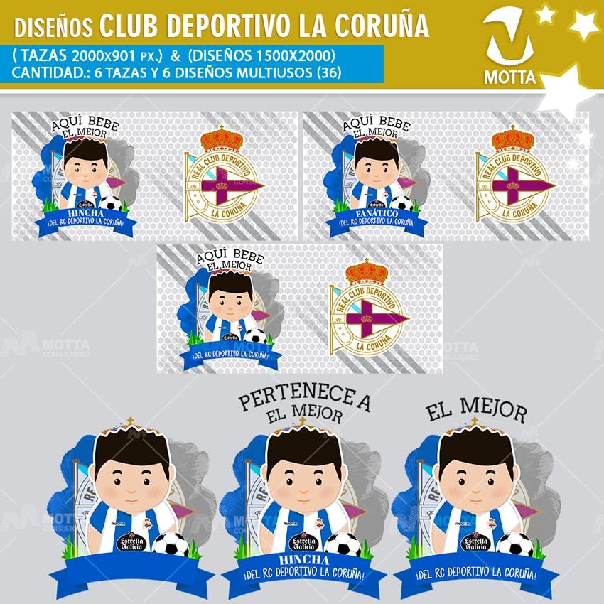 HINCHA REAL CLUB DEPORTIVO LA CORUÑA DISEÑOS MULTIUSOS