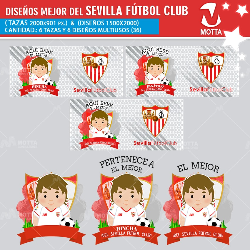 DISEÑOS MULTIUSOS HINCHA DEL SEVILLA FÚTBOL CLUB