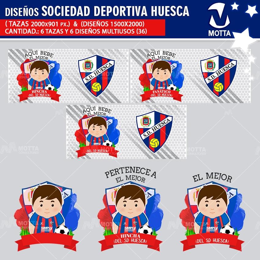 HINCHA DE SOCIEDAD DEPORTIVA HUESCA DISEÑOS MULTIUSOS