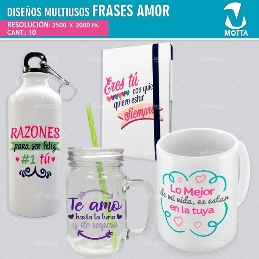 Diseños Frases Amor Para Estampado Multiuso