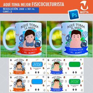 plantilla-diseño-design-tazas-mug-vaso-aqui-toma-culturista-bodybulding