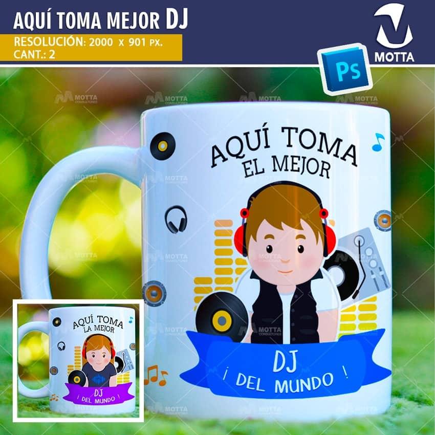 AQUÍ TOMA MEJOR DJ DISEÑOS PARA SUBLIMAR TAZAS