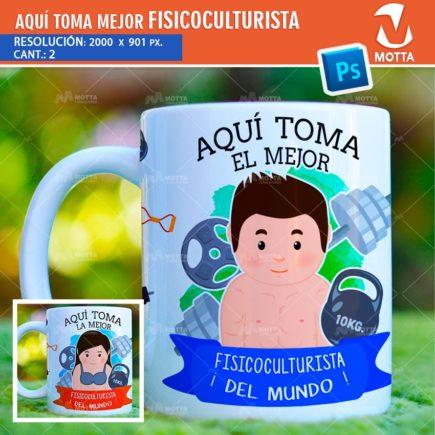 AQUÍ TOMA FISICOCULTURISTA DISEÑOS PARA SUBLIMAR TAZAS