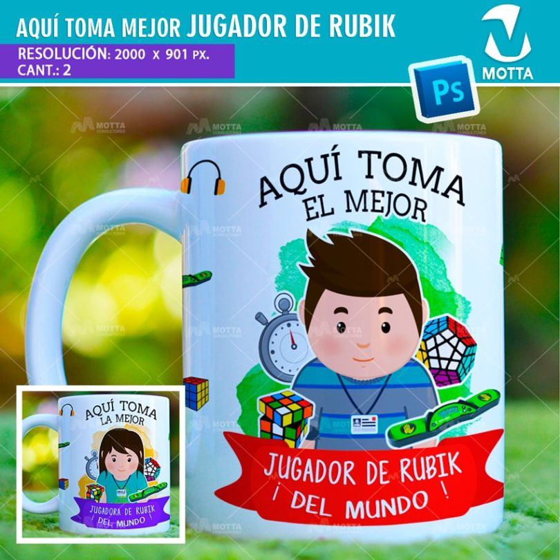 plantilla-diseño-design-tazas-mug-vaso-aqui-toma-jugador-rubik-cubero