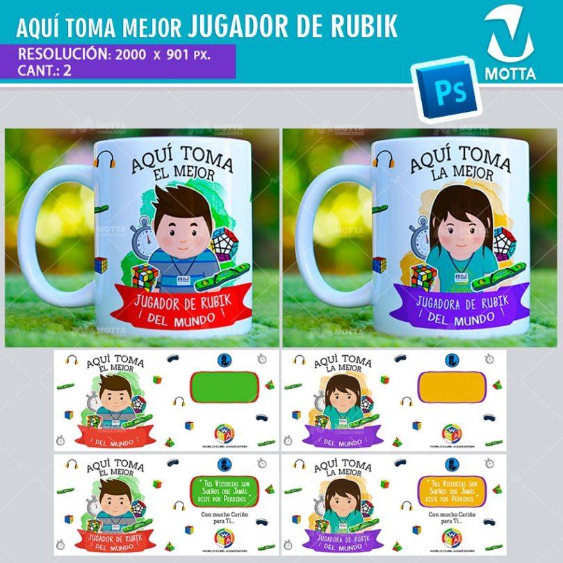 plantilla-diseño-design-tazas-mug-vaso-aqui-toma-jugadora-rubik-cubera-cubero