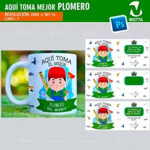 plantilla-diseño-design-tazas-mug-vaso-aqui-toma-plomero-gasfiter-fontanero-gasfitero-tecnico-mantenimiento