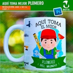 plantilla-diseño-design-tazas-mug-vaso-aqui-toma-plomero-gasfiter-servicios-generales