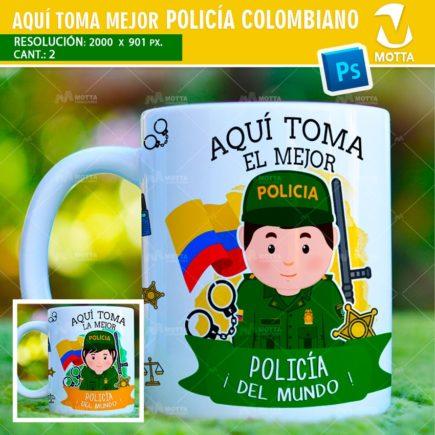 AQUÍ TOMA MEJOR POLICÍA DISEÑOS PARA SUBLIMAR TAZAS