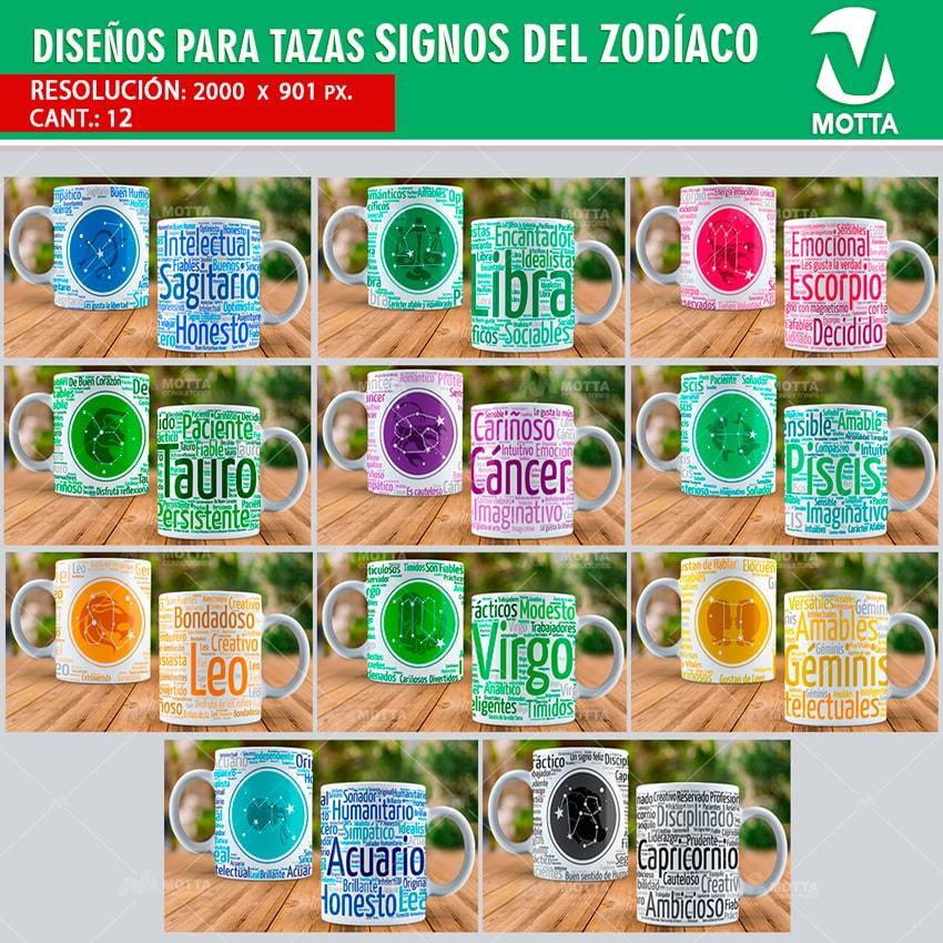 Dise os para sublimar tazas signos zodiacales for Disenos de acuarios