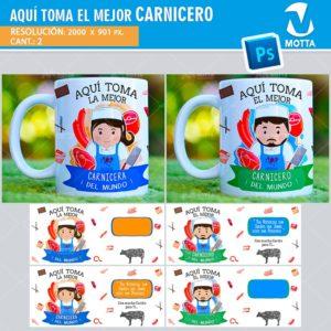 plantilla-diseño-tazas-mug-vaso-tazon-aqui-toma-carnicera