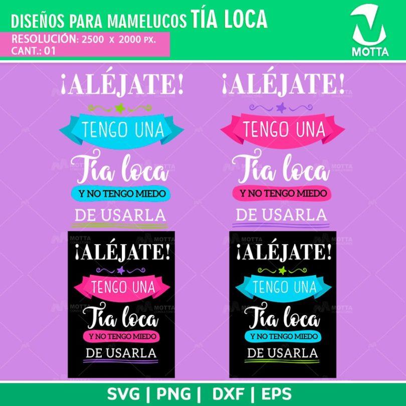 Diseños-plantillas-mamelucos-camisetas-sublimacion-tia-loca-niña-niño-bebe-familia-svg-dxf