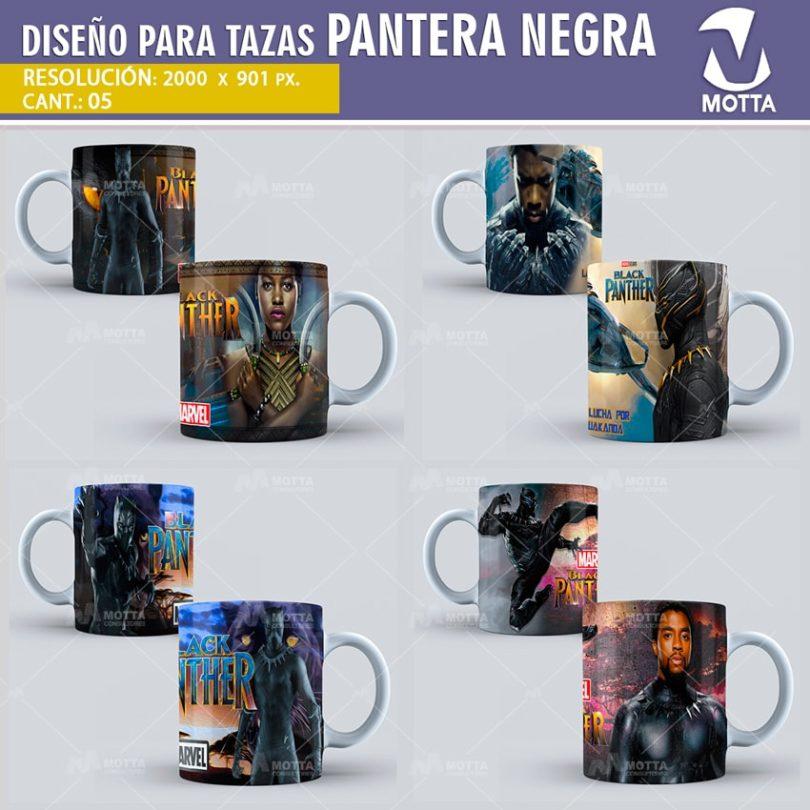 PANTERA NEGRA | DISEÑOS PARA SUBLIMAR TAZAS
